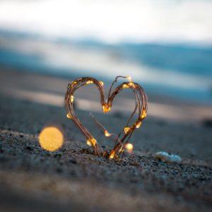 lit heart